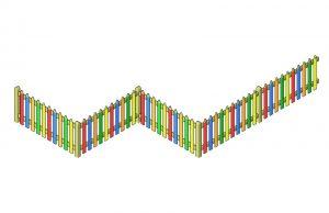 Coloured pencil fencing for schools and nurseries
