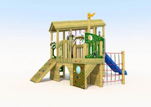 The cross park play tower