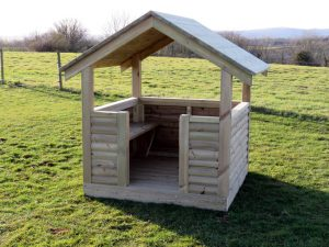 A playhouse shelter for children