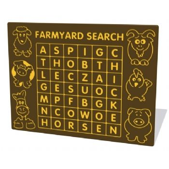 Farmyard word search activity panel