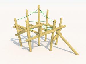 A playground pole climber