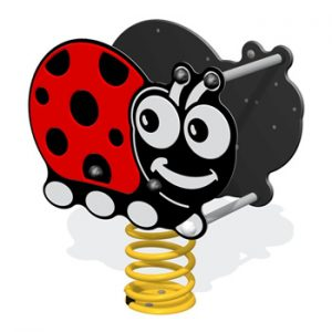 A ladybird shaped play springy