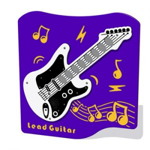 A guitar shaped play panel
