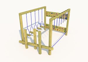 A play trail climber for young children