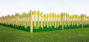 Meadow fencing for school play areas