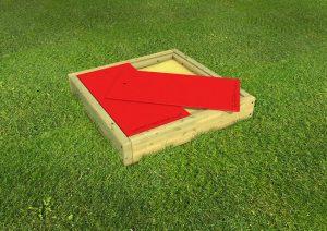 Medium wood framed sand pit for childrens play