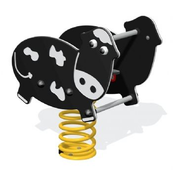 A cow shaped play springy