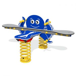 A octopus shaped play springy