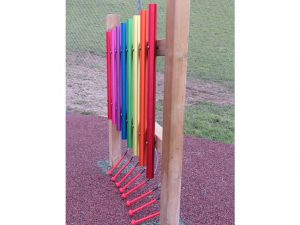 Muscial rainbow coloured play chimes for children