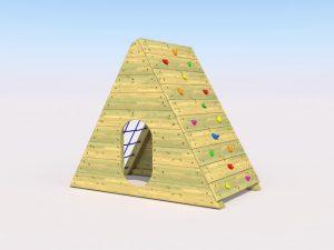A ramp net play pod for kids