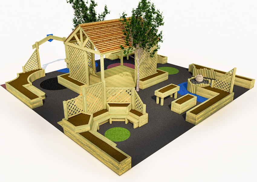 A sensory outdoor classroom for children