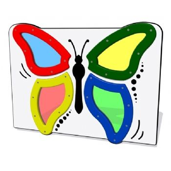 A butterfly activity play panel