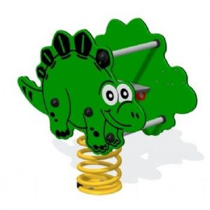 A stegosaurus play rocker for kids