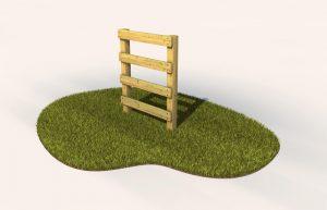 A wooden adventure trail ladder
