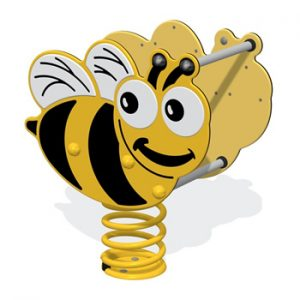A bee shaped springy for playgrounds