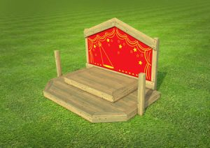 Childrens play wooden stage