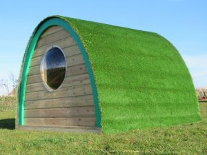 Side view of the play pod for children