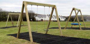 Traditional wooden swings