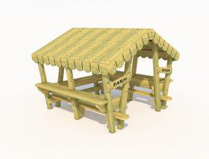 Wooden farm themed playhouse