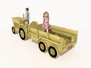 Themed play wooden tractor