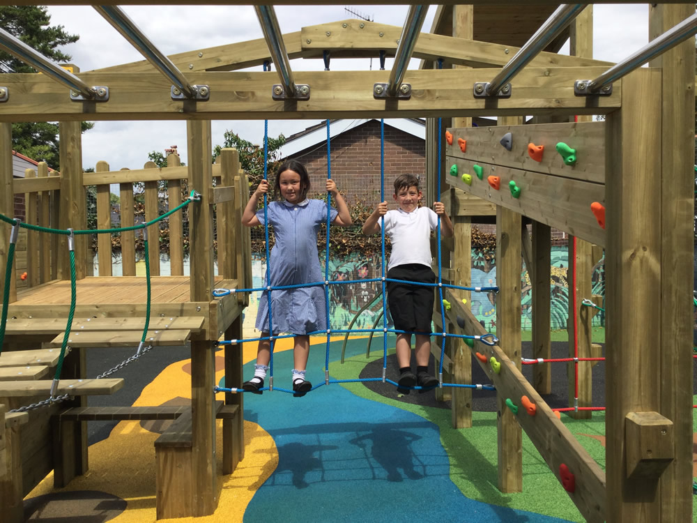 Playground equipment installed at Newtown School