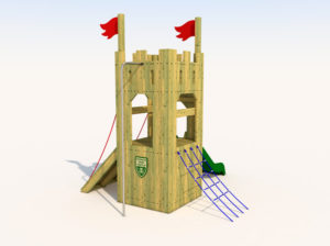 Wooden play tower for kids