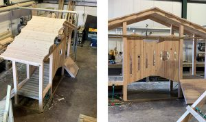Wooden play equipment for schools & parks