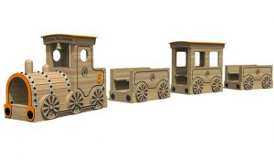 A play train for young children to clim aboard
