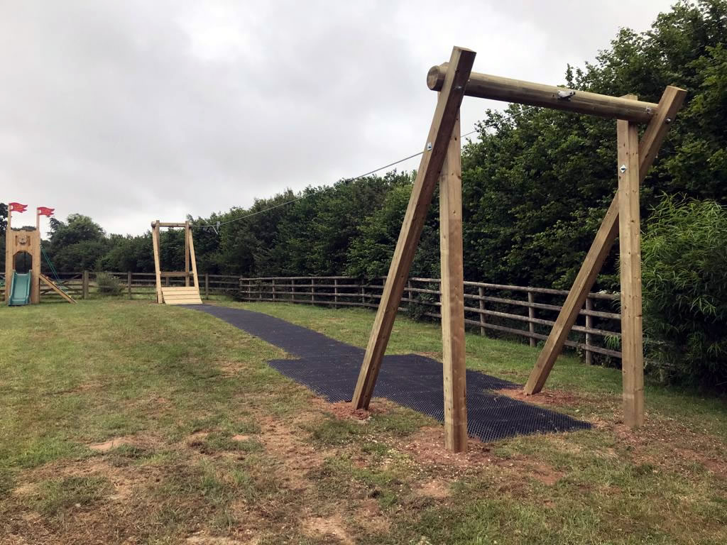 Ashill village outdoor play area gets a zip wire