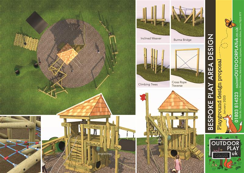 A 3d image of proposed play equipment