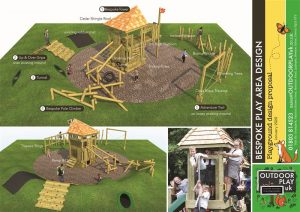 A visual impression of our play equipment installed in your play area