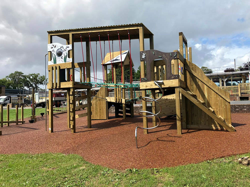 Wooden play equipment for children