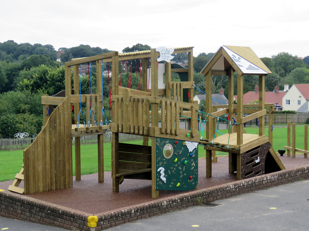 An adventure trail built in a play area