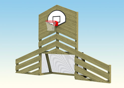 Childrens play goal and ball hoop