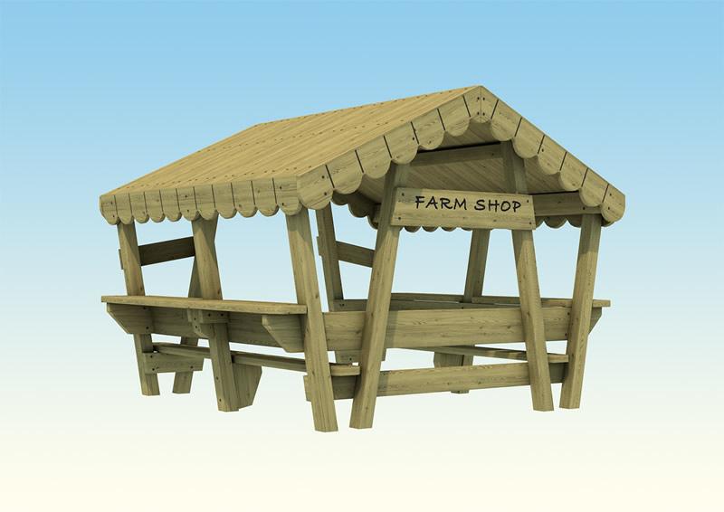 A play farm shop for children