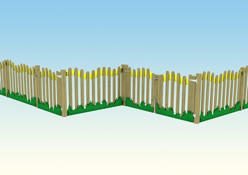 Play area meadow fence