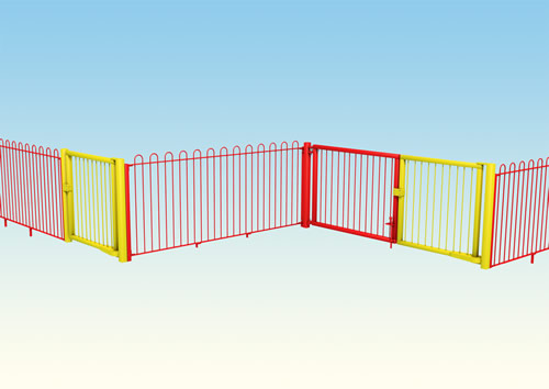 Metal playground fencing for schools