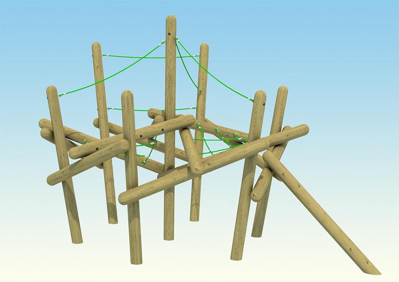 A high pole climbing frame