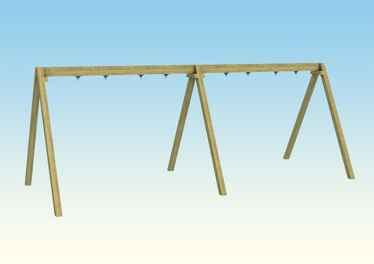 OP11-002 Double Bay Swing Frame Render 1